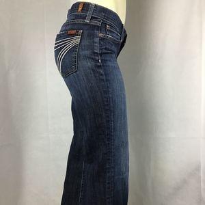 7 For All Mankind DOJO Flip Flop Jeans Size 27 (T)